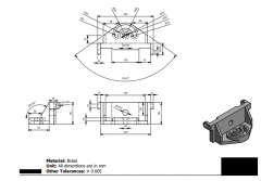 Autodesk Inventor 2D CAD drawing for Engineering students CAD Practice