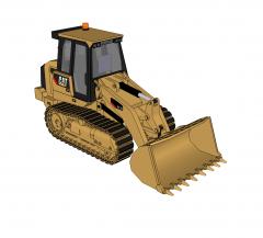Bull dozer Sketchup model
