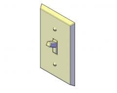 Light switch 3d dwg