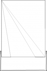 439mm Length Stage Spot Light Rear Elevation dwg Drawing