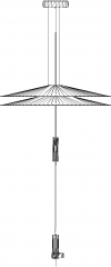 43mm Length Pendant Light Front Elevation dwg Drawing