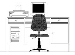 Office - Retro Desk Elevation