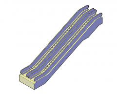 Rolltreppen 3D-CAD-Modell