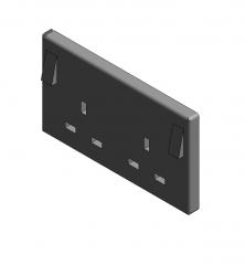Double wall socket Revit family