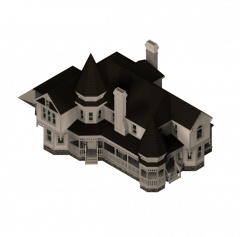 Large Victorian house 3DS Max model
