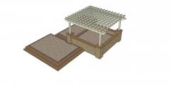 dwg diseño del patio y modelos skp