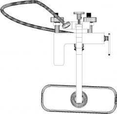 457mm Top Length In Wall Shower with Faucet and Heater Plan dwg Drawing