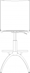 459mm Width Upholstered Bench Rear Elevation dwg Drawing