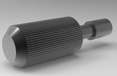 Autodesk Inventor 3D CAD Model of Knurled Bolt for Cover Plate, M3, L10d2.2