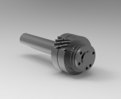 Autodesk Inventor 3D CAD Model of shaft for pinion  gear Module-2, Gear size-58 83