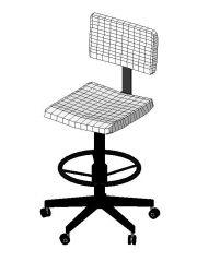 Armless Task Chair Revit Family