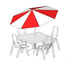 Outdoor Table Revit Family