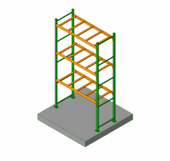 Industrial racking 3D models
