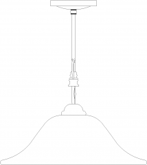 468mm Length Traditional Lamp Left Side Elevation dwg Drawing