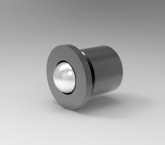 Autodesk Inventor 3D CAD Model of Roller Plunger for Press Fit, D7  D1 9   mm
