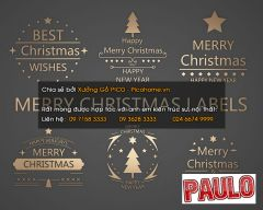Wall art metal mery christmas  label decoration 3ds max