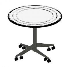 Au Lait Table Round Fixed Top Revit Family