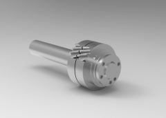 Autodesk Inventor 3D CAD Model of shaft for pinion  gear Module-4, Gear size-58 85