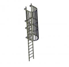 Modello 3D DWG scala di accesso ingabbiato