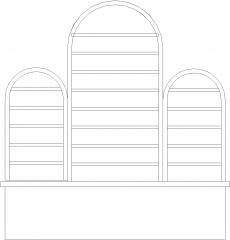 4882mm Arch Design Bar Counter Rear Elevation dwg Drawing