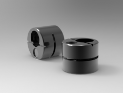 Solid-works 3D CAD Model of Eccentric Bush for lateral plunger, d1-1/2(inch)d2-3/4,  L-0.547