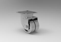 Fusion 360 (step file) 3D CAD Model of Swivel castor, Ø  x width-75x25+25H=103    Load Capacity-90