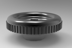 Autodesk Inventor ipt file 3D CAD Model of Handwheel with square hole, D (mm)=50d (mm)=7x7