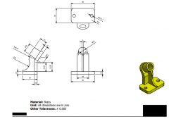 Inventor 2D CAD drawing for Student Practice 48