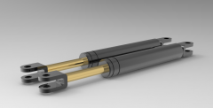 Autodesk Inventor ipt file 3D CAD Model of Universal Type Nitrogen Spring, Lmax=360Lmin=270,   N=265