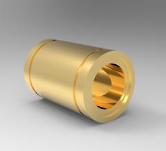 Solid-works 3D CAD Model of Linear Bearing, Screw Diameter=0.5000  Dynamic Lead=88 lbs Static Lead=79 lbs
