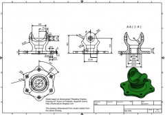 Inventor 2D CAD drawing for practice 49