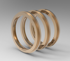 Solid-works 3D CAD Model of Flanged Design Bearing Isolator  29602-0027