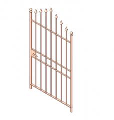 Iron gate Revit family