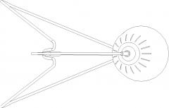 500mm Top Length Standing Lamp Plan dwg Drawing