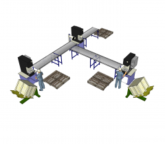 Linha de produção da fábrica