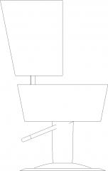 503mm Width Circular Upholstered Bench Left Elevation dwg Drawing