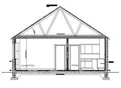 Single Storey House - Section