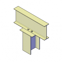Collegamento 3D DWG a colonna in acciaio