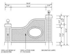 Progettazione di recinti e pilastri