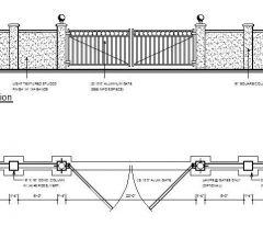 Wall and Aluminium Gate