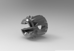 Solid-works 3D CAD Model of Bush with two locking rings, M2.5 X 0.45L (mm)-4  Ø A (mm)-4