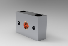Solid-works 3D CAD Model of Plate for Mounting M 10