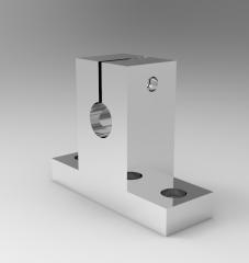 Solid-works 3D CAD Model of Slide Shaft Support, d=8h=20L=42W=14H=32.8
