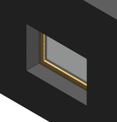 Holz rechteckigen Fenster