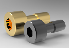 Autodesk Inventor 3D CAD Model of Hexagon Bolt for Cover Plate, M8, L10