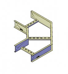 Cable tray ladder 3D DWG model