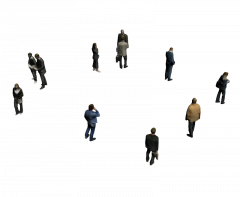 Group of people 3DS Max model