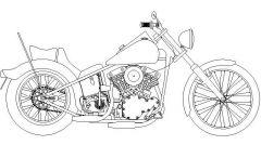 Motor Bike - Harley Davidson