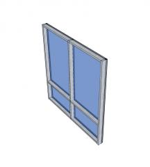 Curtain wall Sketchup model