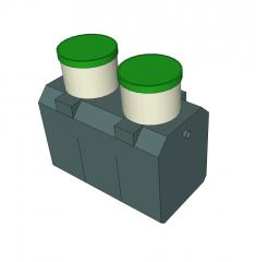 Septic tank Sketchup model